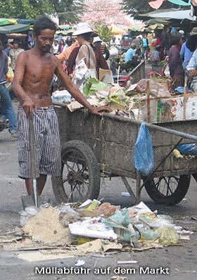Müllabfuhr: nichts Verwertbares bleibt übrig