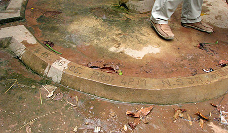 Kennzeichnung eines Brunnens in Tani