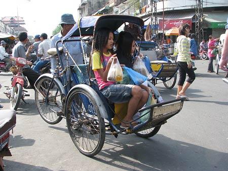 Fahrrad-Rikscha in Phnom Penh
