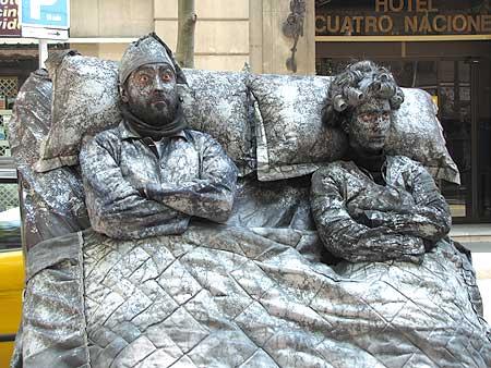Unbewegliche Figuren in Barcelona