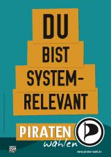 Piratenplakat zur NRW-Wahl