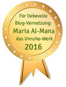 Bloggerorden für Vernetzung: Maria Al-Mana