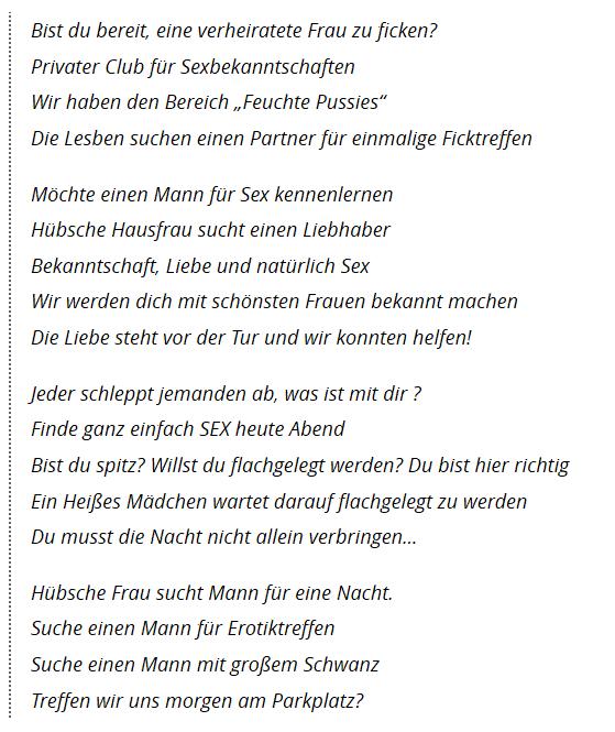 frauen treffen heute nacht Lüneburg