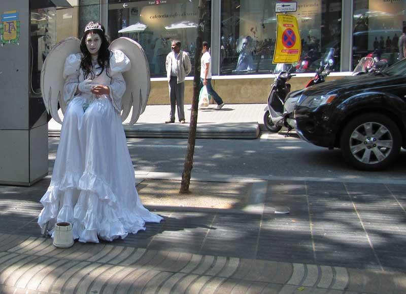 Engel auf den Ramblas