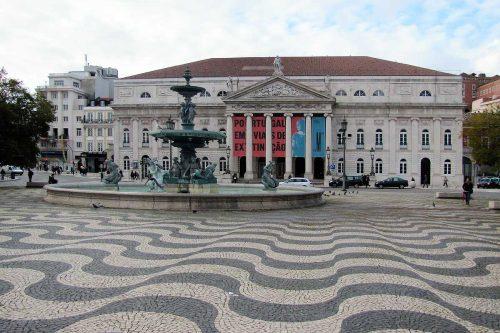 Lissabon Stadtplatz
