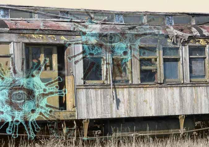alter Bahnwagen